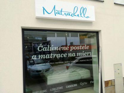 Svetelná reklama a realizácia predajne od C-PRESS v Košiciach - Matrachello